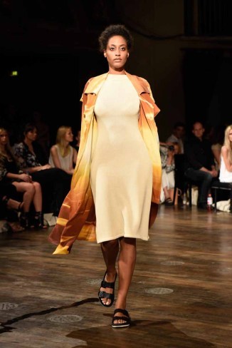 BERLIN, GERMANY - JULY 07: A model walks the runway at the Marcel Ostertag show during the Mercedes-Benz Fashion Week Berlin Spring/Summer 2016 at Admiralspalast on July 7, 2015 in Berlin, Germany. (Photo by Clemens Bilan/Getty Images for Marcel Ostertag)