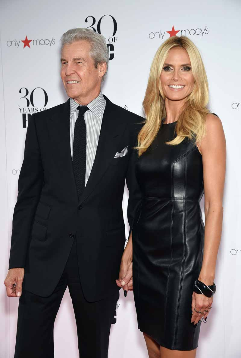 NEW YORK, NY - SEPTEMBER 10: President and CEO, Macy's Terry Lundgren and Heidi Klum attend Heidi Klum + Gabriel Aubry's celebration of the launch of INC's 30th Anniversary Collection at IAC Building on September 10, 2015 in New York City. (Photo by Dimitrios Kambouris/Getty Images for Heidi Klum)