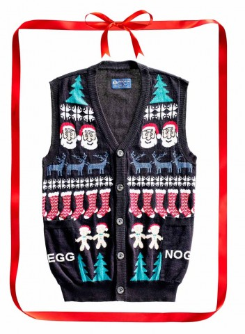 American Rag Egg Nog sweater vest. $50