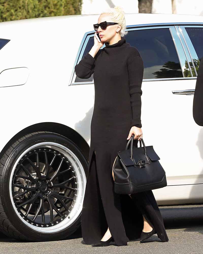 199783e5b47a Lady Gaga s New Obsession  Versace Palazzo Empire Bag - FashionWindows