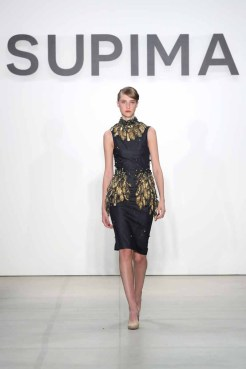 NEW YORK, NY - SEPTEMBER 08: A model walks the runway at the Supima Design Competition 2016 during New York Fashion Week: September 2016 at The Gallery, Skylight at Clarkson Sq on September 8, 2016 in New York City. (Photo by Neilson Barnard/Getty Images for Supima Design Competition)