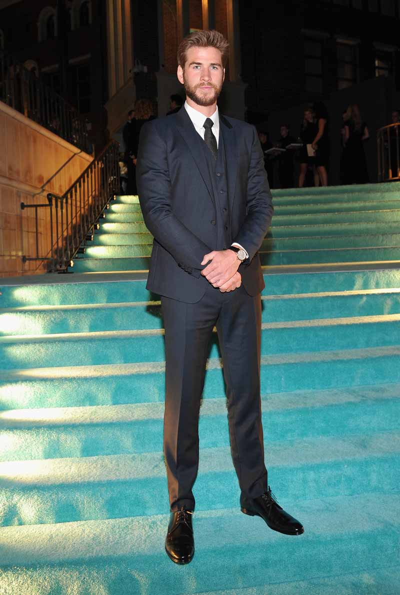 BEVERLY HILLS, CA - OCTOBER 13: Actor Liam Hemsworth attends Tiffany & Co.'s unveiling of the newly renovated Beverly Hills store and debut of 2016 Tiffany masterpieces at Tiffany & Co. on October 13, 2016 in Beverly Hills, California. (Photo by Donato Sardella/Getty Images for Tiffany & Co.)