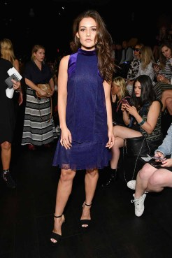 NEW YORK, NY - SEPTEMBER 07: Actress Danielle Campbell attends the Tadashi Shoji fashion show during New York Fashion Week: The Shows at Gallery 1, Skylight Clarkson Sq on September 7, 2017 in New York City. (Photo by Dia Dipasupil/Getty Images For Tadashi Shoji)