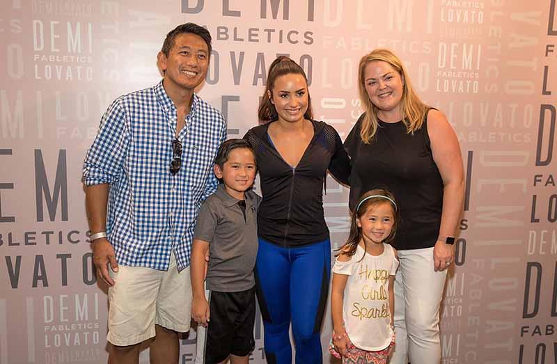 Demi Lovato at Fabletics (4)