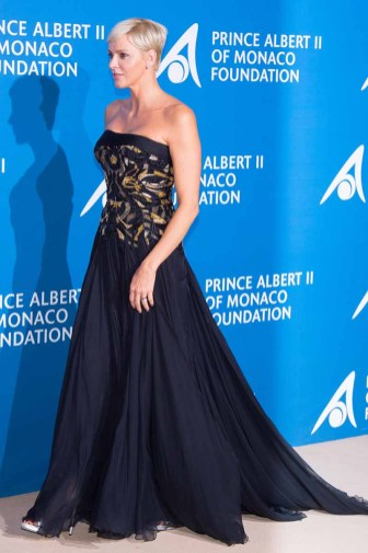 "MONACO - SEPTEMBER 28: Princess Charlene of Monaco attend the Inaugural ""Monte-Carlo Gala For The Global Ocean"" Honoring Leonardo DiCaprio at The Monaco Garnier Opera on September 28, 2017 in Monaco, Monaco. (Photo by Stephane Cardinale - Corbis/Corbis via Getty Images)"