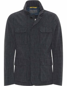 Canali Field Jacket with Fold-Away Hood