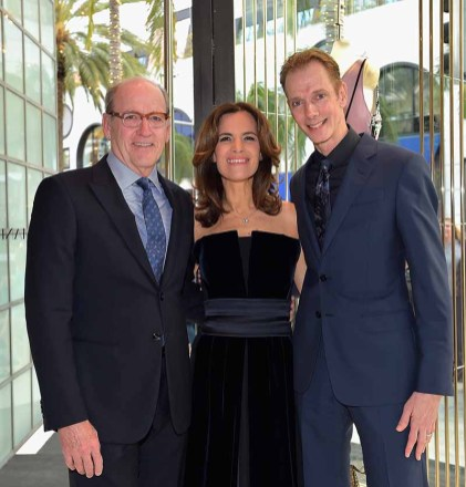 BEVERLY HILLS, CA - MARCH 03: (L-R) Richard Jenkins, Roberta Armani and Doug Jones attend Giorgio Armani's celebration of 'The Shape of Water' hosted by Roberta Armani on March 3, 2018 in Beverly Hills, California. (Photo by Donato Sardella/Getty Images for Giorgio Armani)