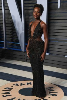 BEVERLY HILLS, CA - MARCH 04: Lupita Nyong'o attends the 2018 Vanity Fair Oscar Party hosted by Radhika Jones at Wallis Annenberg Center for the Performing Arts on March 4, 2018 in Beverly Hills, California. (Photo by Jon Kopaloff/WireImage)