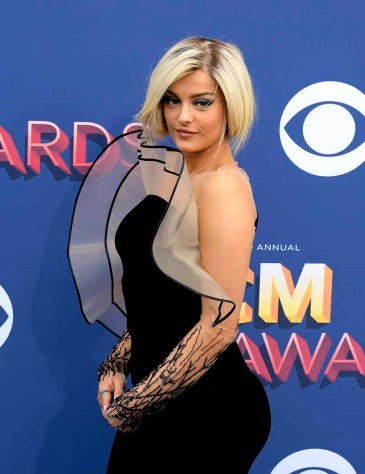 The 53rd Academy of Country Music Awards red carpet is held at the MGM Grand Garden Arena on the Las Vegas Strip. Here singer/songwriter Bebe Rexha walks the ACM red carpet. Sunday, April 15, 2018. CREDIT: Glenn Pinkerton/Las Vegas News Bureau