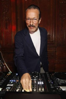 DJ Harvey DJs as Giorgio Armani hosts trunk show at the Giorgio's London event to celebrate the opening of the new Giorgio Armani and Armani/Casa boutiques on Sloane Street on April 12, 2018 in London, England. (Photo by Darren Gerrish/WireImage/Darren Gerrish for Giorgio Armani) *** Local Caption *** DJ Harvey