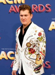 The 53rd Academy of Country Music Awards red carpet is held at the MGM Grand Garden Arena on the Las Vegas Strip. Here singer/songwriter and nominee for Album of the Year Jon Pardi walks the ACM red carpet. Sunday, April 15, 2018. CREDIT: Glenn Pinkerton/Las Vegas News Bureau