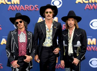 The 53rd Academy of Country Music Awards red carpet is held at the MGM Grand Garden Arena on the Las Vegas Strip. Here nominee for New Vocal Group of the Year, Vocal Group of the Year and Single Record of the Year Midand walk the ACM red carpet. Sunday, April 15, 2018. CREDIT: Glenn Pinkerton/Las Vegas News Bureau