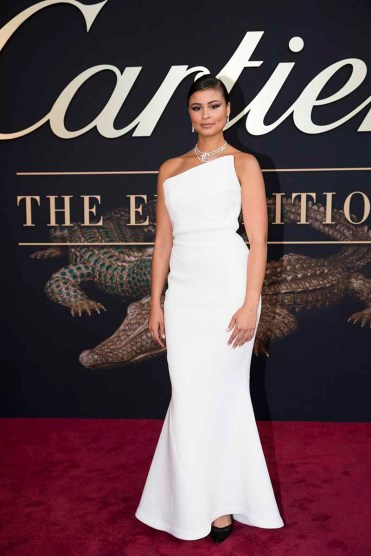CANBERRA, AUSTRALIA - MARCH 27: Thandi Pheonix attends the Cartier: The Exhibition Black Tie Dinner at the National Gallery of Australia on March 27, 2018 in Canberra, Australia. (Photo by Cole Bennetts/Getty Images)