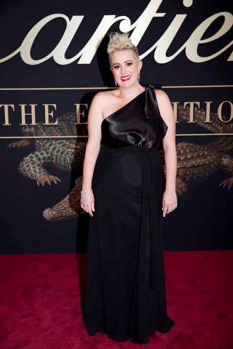 CANBERRA, AUSTRALIA - MARCH 27: Australian music artist, Katie Noonan attends the Cartier: The Exhibition Black Tie Dinner at the National Gallery of Australia on March 27, 2018 in Canberra, Australia. (Photo by Cole Bennetts/Getty Images)