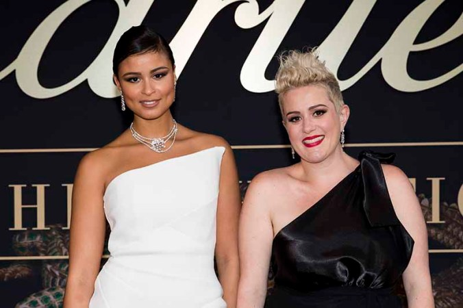 CANBERRA, AUSTRALIA - MARCH 27: Thandi Pheonix and Katie Noonan attend the Cartier: The Exhibition Black Tie Dinner at the National Gallery of Australia on March 27, 2018 in Canberra, Australia. (Photo by Cole Bennetts/Getty Images)