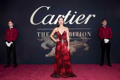 CANBERRA, AUSTRALIA - MARCH 27: Nicole Warne of Gary Pepper Girl attends the Cartier: The Exhibition Black Tie Dinner at the National Gallery of Australia on March 27, 2018 in Canberra, Australia. (Photo by Cole Bennetts/Getty Images)