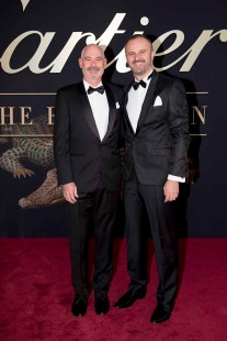 CANBERRA, AUSTRALIA - MARCH 27: ACT Chief Minister, Andrew Barr and Anthony Toms attend the Cartier: The Exhibition Black Tie Dinner at the National Gallery of Australia on March 27, 2018 in Canberra, Australia. (Photo by Cole Bennetts/Getty Images)