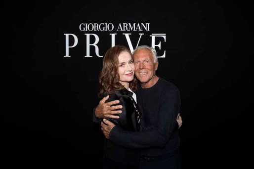 Isabelle Huppert and Giorgio Armani -