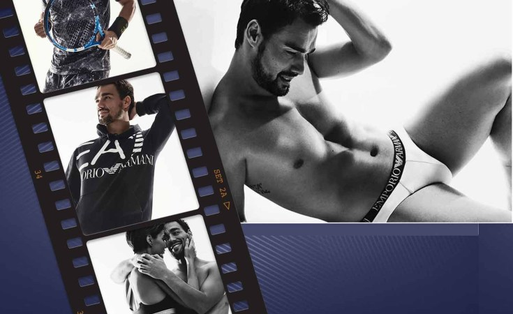 Fabio Fognini for Emporio Armani Underwear