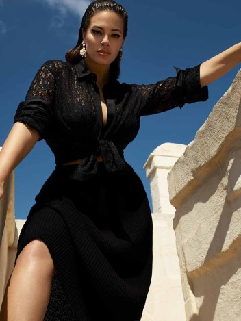 ashley graham for marina rinaldi S19 campaign