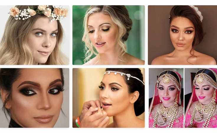 5 wedding makeup styles