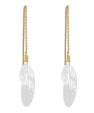 Grainne-Morton-Gold-Plated-Thread-Through-Feather-Mother-of-Pearl-Drop-Earrings