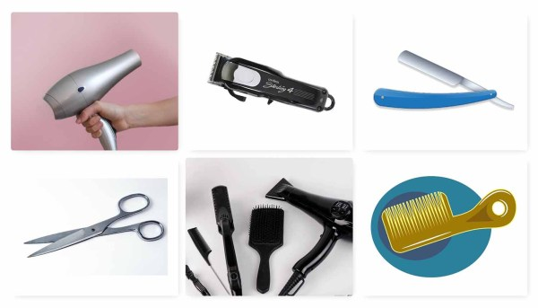 tools for hair cuts
