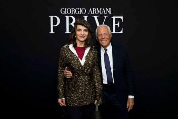 Juliette Binoche and Giorgio Arman