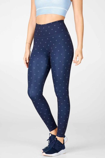 High-Waisted Printed UltraCool 7.8_Liberty Star_Front