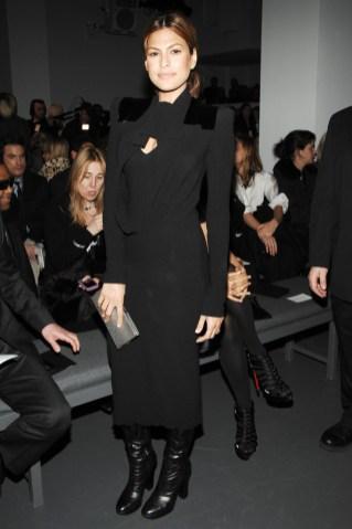 Eva Mendes backstage at Calvin Klein