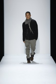 Designer Richard Chai on the runway