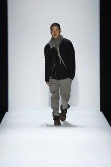 Designer Richard Chai on the runway