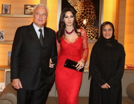 Monica Bellucci; Bernard Fornas; Sheikha lubna Al Qassimi