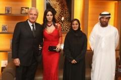 Monica Bellucci; Bernard Fornas; Ali Al Bawadi; Sheikha lubna Al Qassimi
