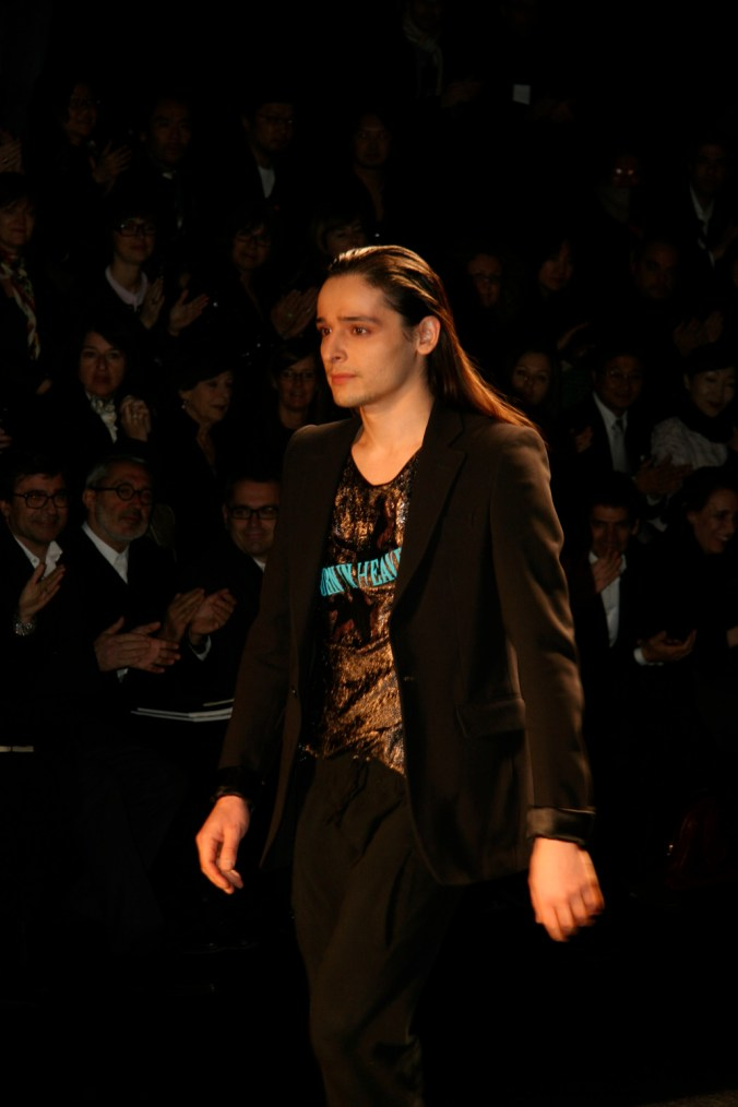 Olivier Theyskens on the runway