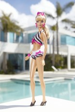 The New Bathing Suit Barbie Doll Outside at Her Real-Life Malibu Dream House