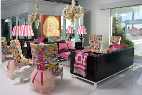 Barbie's Living Room at Her Real Malibu Dream House Decorated by Jonathan Adler
