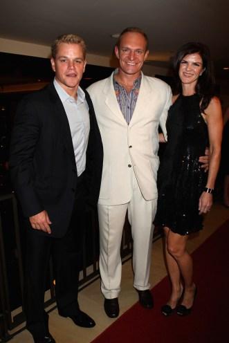 Matt Damon, Francois Pienaar and his wife