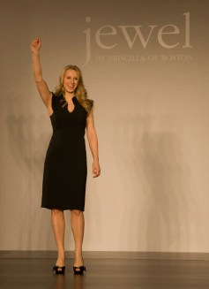 Designer of Jewel by Priscilla of Boston on the runway