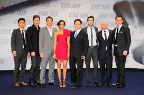 John Cho, Eric Bana, Karl Urban, Zoe Saldana, J.J. Abrams, Zachary Quinto, Simon Pegg, Chris Pine