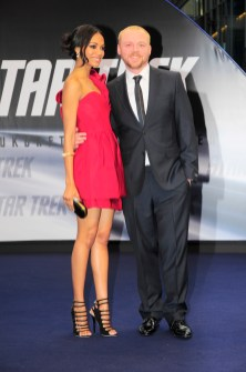 Zoe Saldana and Simon Pegg