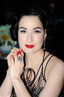 Dita von Teese in Cartier jewellery