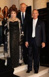 Gina Lollobrigida, Nicola Bulgari and Francesco Trapani