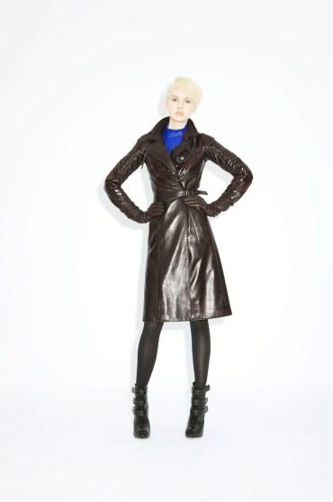Coat Lana Leather _ Fabric