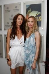 Mara Hoffman (L) and Klee van Schoonhoven during Mercedes-Benz Fashion Week Swim 2010