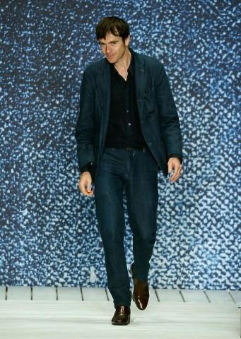 Designer Christophe Lemaire on the runway