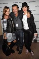 Mena Suvari, G-Star head designer Pierre Morisset and Juliette Lewis
