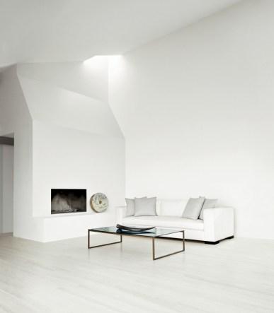 Calvin Klein Home Curator - tuxedo sofa smoked glass cocktail table