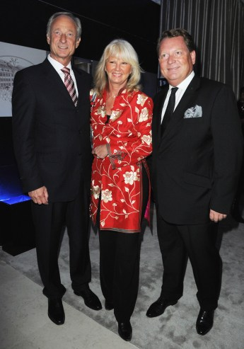 President of Montblanc Lutz Bethge, Ingrid Roosen-Trinks and Managing director of Mont-Blanc France Michel Ade (R)