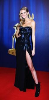 Julia Stegner in Versace